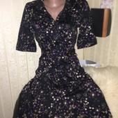 Очень классное коттоновое платье на пуговицах