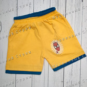Желтые шорты на мальчика Spiderman Человек паук, 80 86 92 104 размер, Турция