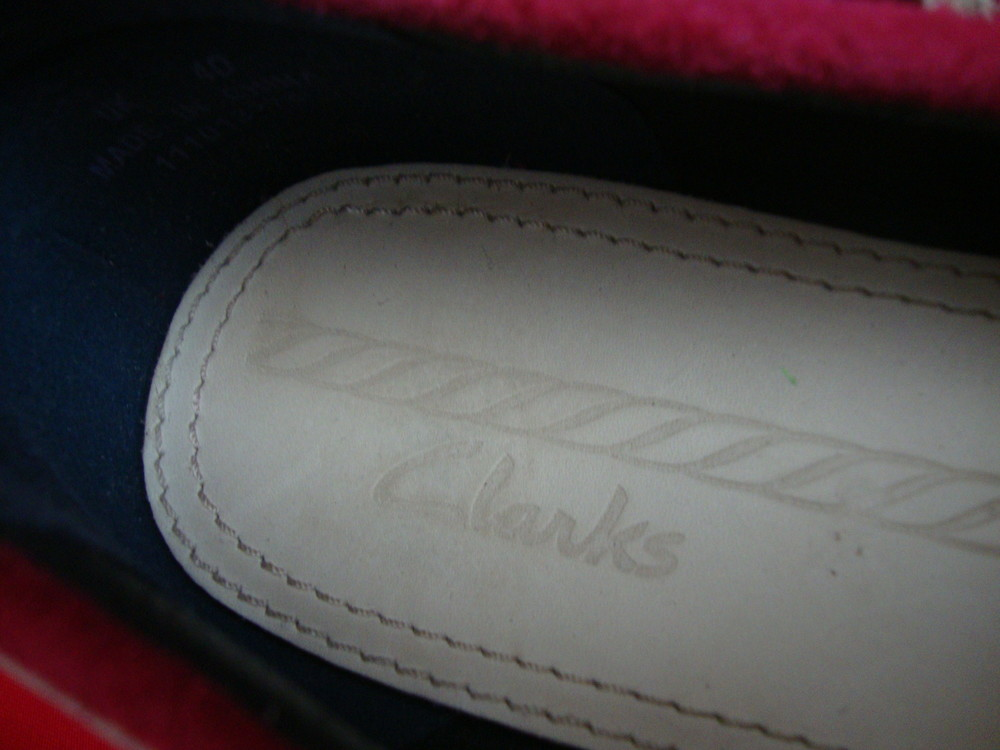 Мокасины топсайдеры clarks натур кожа 36-37 размер фото №6
