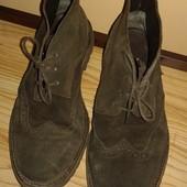 Отличные мужские замшевые итальянские туфли ботинки броги на шнурках от Benetton, p.42
