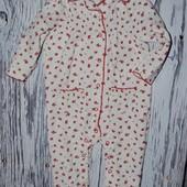 9 - 12 месяцев Фирменный красивый натуральный человечек пижама девочке в цветочек Некст Next