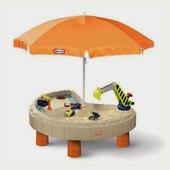 Little Tikes песочница с зонтом