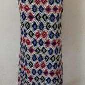 Летнее новое платье прямого кроя с принтом
