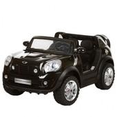 Детский электромобиль Bambi Mini Cooper черный (jj298br-2) с 2-мя моторами