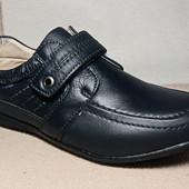 Кожаные туфли-мокасины, р. 36,37