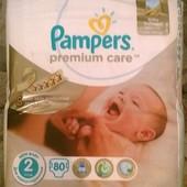 подгузники для новорожденных Памперс премиум кеа Pampers Premium Care 2 (3-6 кг) 80 шт ЕС
