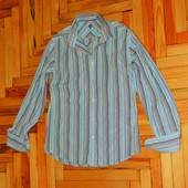 Мужская рубашка в полоску - рукава под запонки р. 48-50