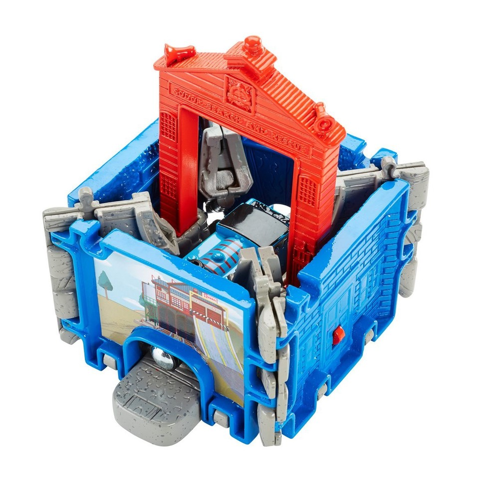 Игровой набор металл паровозик thomas томас в спасательном центре, оригинал фишер прайс фото №1