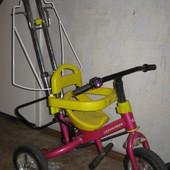 Велосипед  Lexus trike 3-х колесный ярко розовый б/У  с родительской ручкой.