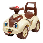 Машинка толокар Кошечка бежевая 2315