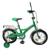 Детский двухколесный велосипед Profi 16 дюймов P 1632 зеленый