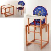 Детский стульчик для кормления трансформер (столик и стульчик) vivast М V-013