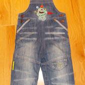 Красивый джинсовый комбинезон Minoti для ребенка 12-18 месяцев, 86 см