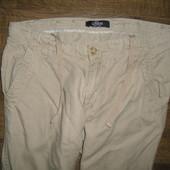 Мужские фирменные летние штаны,лен 100%,размер 32/34,замеры в описании