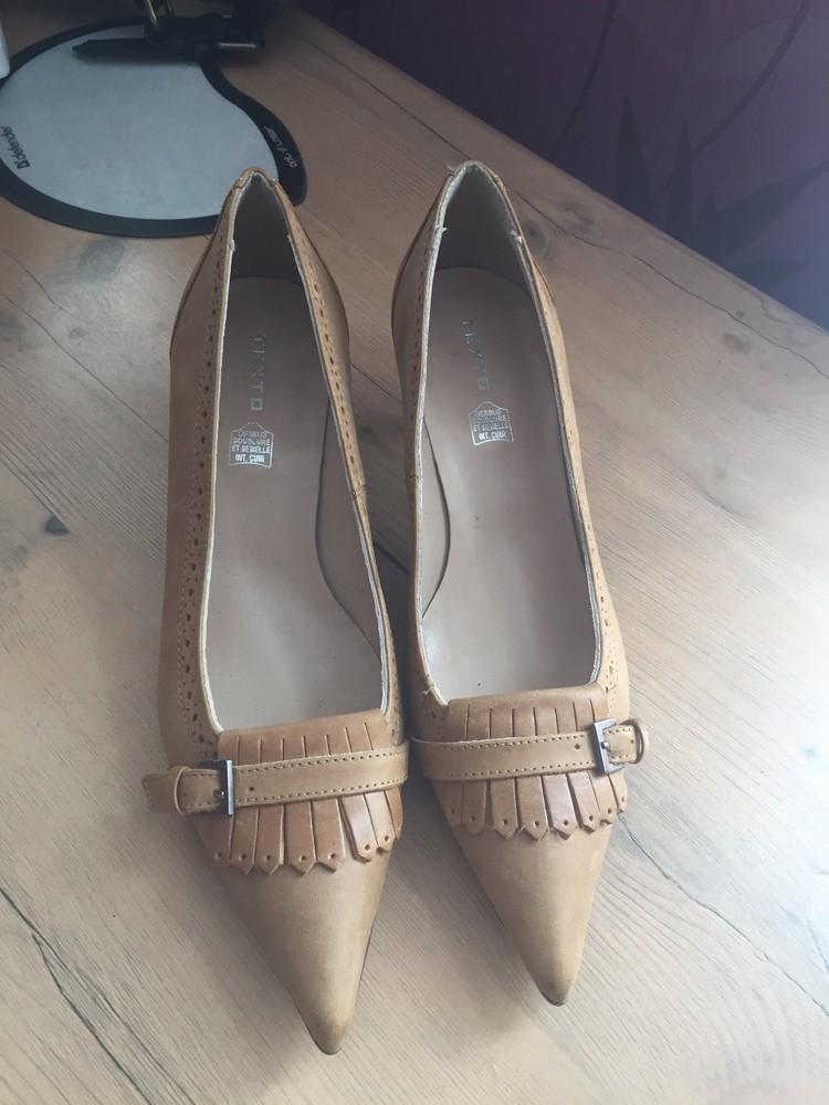 Кожаные туфли, лодочки 37 размер. фото №1