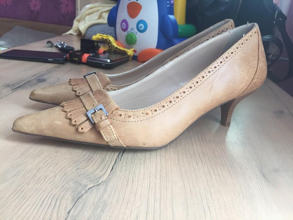 Кожаные туфли, лодочки 37 размер. фото №5