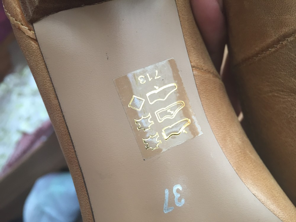 Кожаные туфли, лодочки 37 размер. фото №6