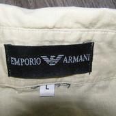 Emporio Armani рубашка с коротким рукавом 100% лен L-размер