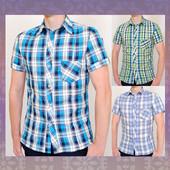 Новинка 2016! Хлопковая рубашка в актуальную клетку. 3 цвета.