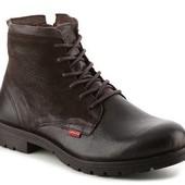 Levis Ботинки коричневые кожаные высокие на шнуровке бренд оригинал из США