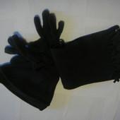 Наборчик шапка, шарф и перчатки для мальчика Еssentials, материал флис Шапка по окружности 44 см. Вы