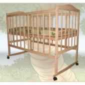 Детская кроватка Sofia Eco S-2 (120*60, 3 ур-ня, колеса, без лака)