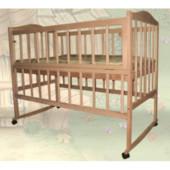 Детская кроватка Sofia Eco S-3 (120*60, 3 ур-ня, колеса, откидн. бок., без лака)