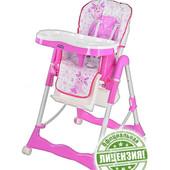 Лунтик стульчик для кормления детский на колесиках LT 0009 U/R