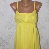 Яркая желтая хлопковая майка E-vie 10 44