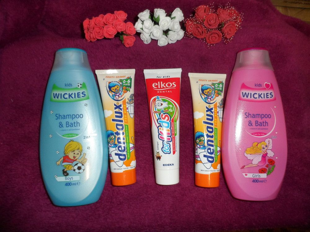 2в1 детская шампунь+гель (для мальчика или для девочки). зубная паста фото №1