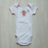 Бодик с коротким рукавом для маленькой принцессы. Carter's. Размер 6 месяцев