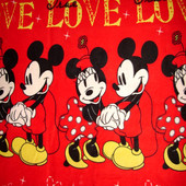 Плед, покрывало из микрофлиса Минни и Микки Маус, Disney 154 х 120 см