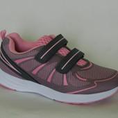 BIKI арт. 8103C серо-розовый Кроссовки для девочек.