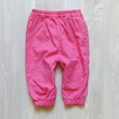 Яркие штаники для девочки. Внутри на тоненькой котоновой подкладке. Junior Academy. Размер 6 месяцев