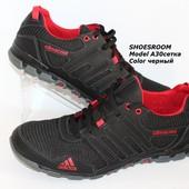 Цена снижена!Мужские кроссовки, кожа+сетка, последние размеры!