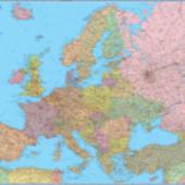 Карта Европы. Политическая м-б 1:3 850 000