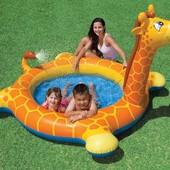 Надувной детский бассейн с фонтанчиком Жираф Intex 57434