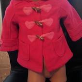 Пальто F&F на малышку 9-12 мес.
