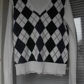 Джемпер, свитерок Flash Lights, ромбы, cotton/acrylic