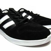 Кроссовки Черные в стиле Adidas (В5292)