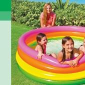 Детский бассейн надувной 56441 Радуга Intex, диаметр 168 см.