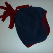шапка флис на 0-3 мес