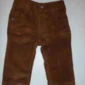 штаны вельветовые на 6-12 мес