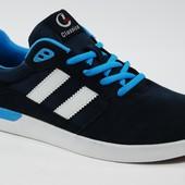 Мужские замшевые кроссовки Classica Style Blue