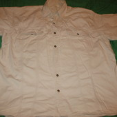 Рубашка мужская,с коротким рукавом,р.54-56(по вороту-45-46см).Нюанс.