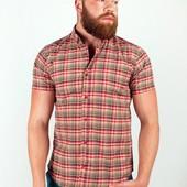 Рубашка в клетку с коротким рукавом №36F009