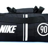 Мужская спортивная сумка бочка под Nike черная (90 black)