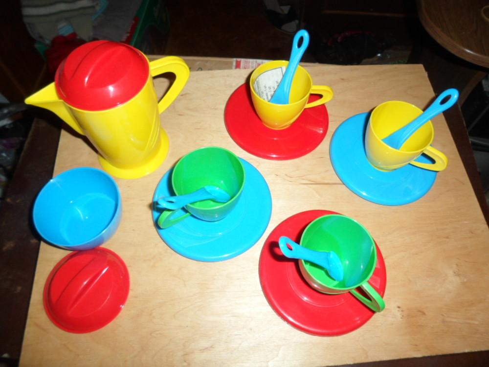 набор посудки с кофейником  в сетке  фото №1