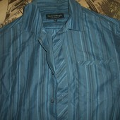 рубашка с коротким рукавом в полоску размер м Matalan (Маталан)