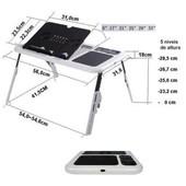 Столик для ноутбука с охлаждением 2 usb кулерами Подставка E-Table ld09